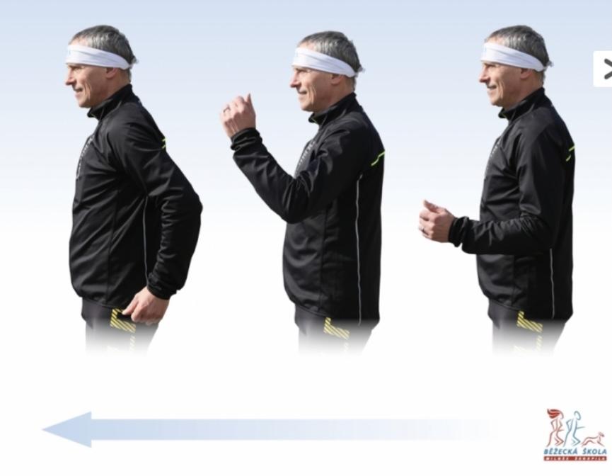 Přirozený běžecký styl se dokáže naučit každý práce rukou
