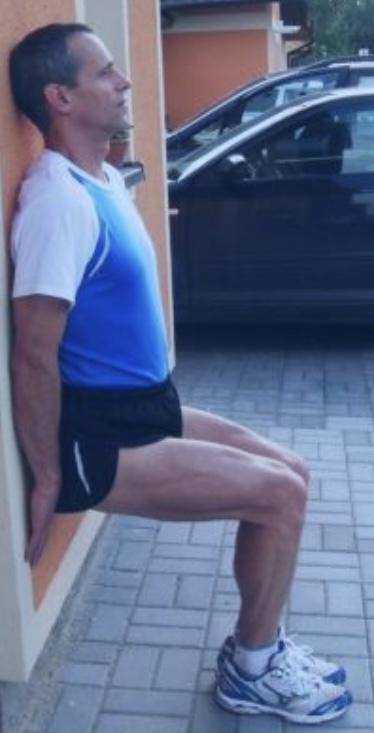 Zranění kolen lyžování u zdi