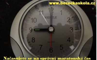 Maraton se běží za tři dny, naprogramuj se na svůj čas