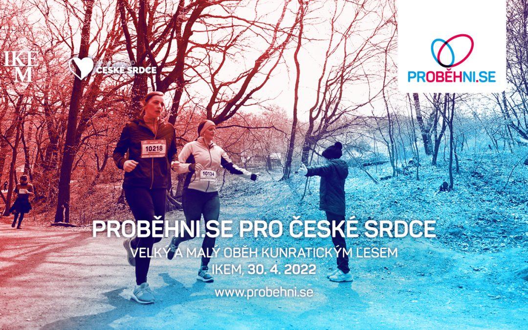 Proběhni.se popáté! Charitativní projekt pod patronací IKEM se uskuteční 30. dubna 2022